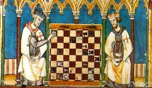 Templars playing chess (from 'Libro de los juegos')