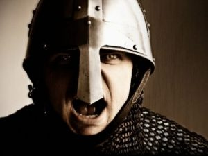 Recreation of a soldier from 1066