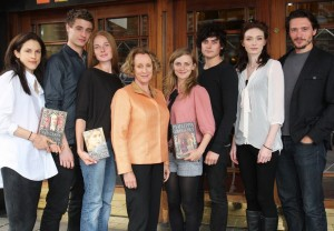 Philippa Gregory with Cousins War cast