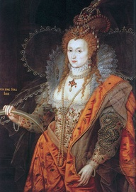 "Queen Elizabeth I - The Rainbow Portrait. From 1600, depicting the queen as ageless. ""Non sine sole iris"" - No rainbow without the sun."