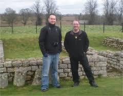 Simon with Gordon Doherty on Hadrian's Wall