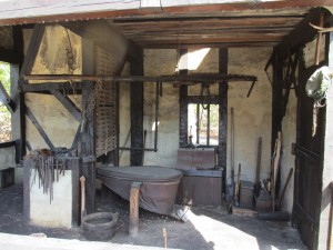 Replica Elizabethan smithy on Roanoke