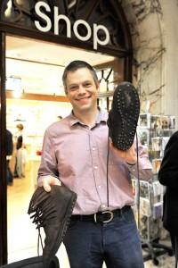 Ben Kane with his hob-nailed Roman boots