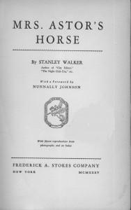 Mrs. Astor's Horse