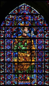 Stained glass window from the Cathedral of Reims.