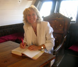Signing aboard the Golden Hinde