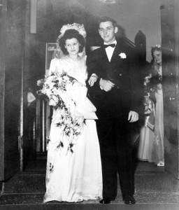 8 Sylvia and Bob on their wedding day