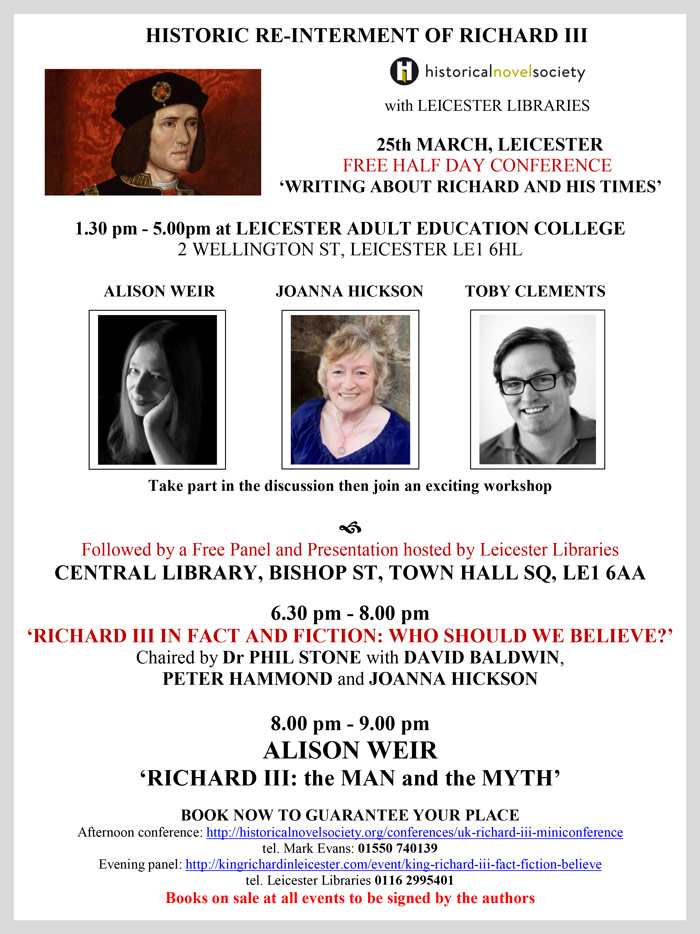 HNS-Leicester-libraries-Richard-III-literary-event